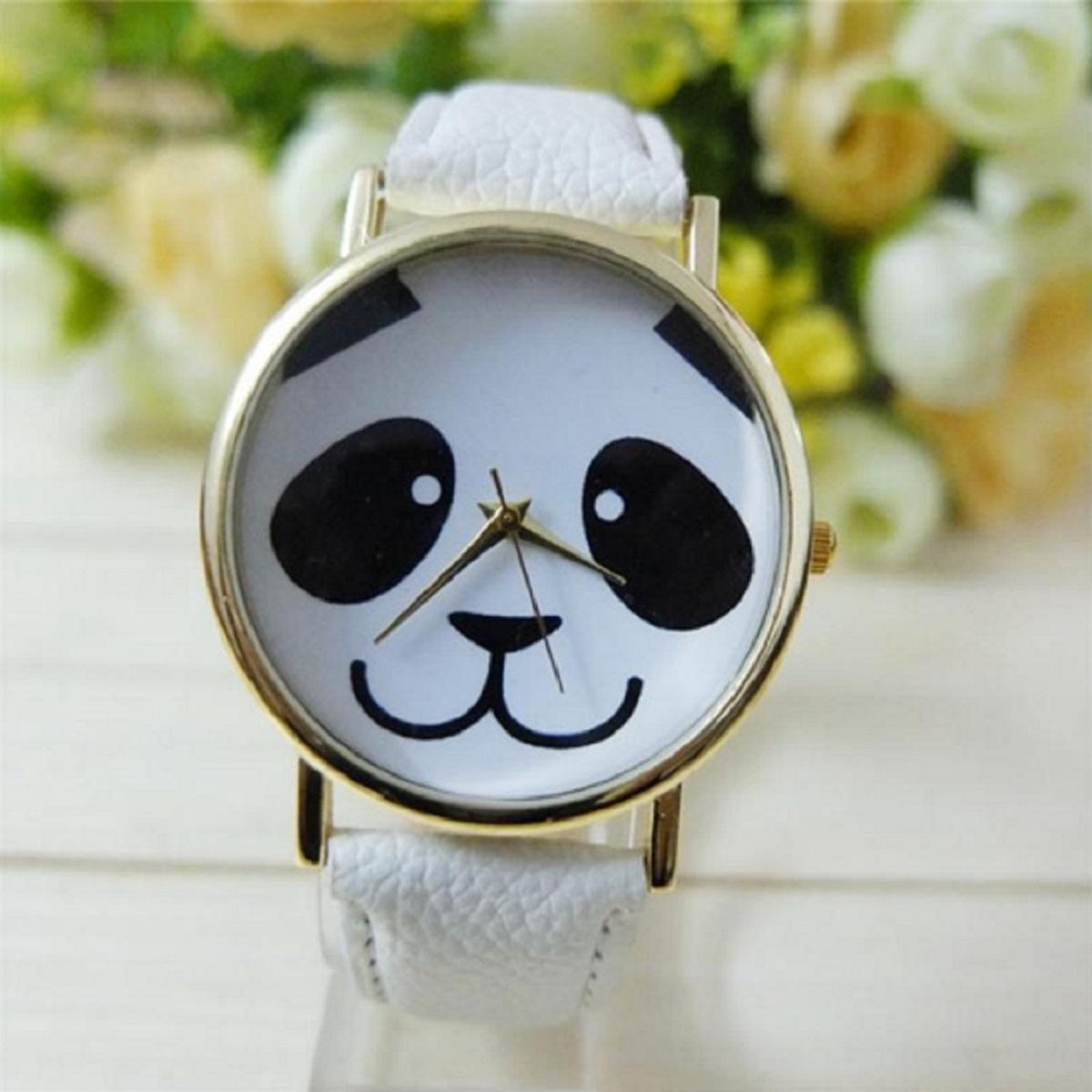 Montre panda sourir blanche 1200 x 1200