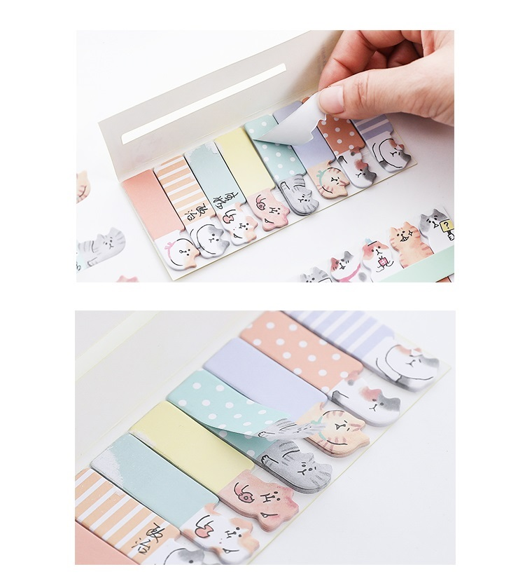 Sticky notes chat kawaii 02